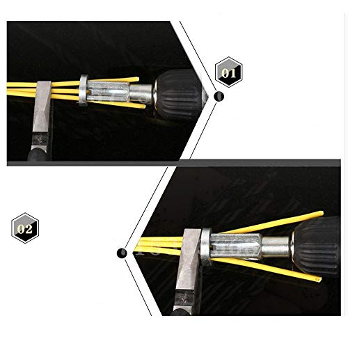 Abisolierzange aiyvi Klemmenblock Universal Terminal Block vollautomatisch abziehbar Artefakt Elektriker Werkzeug Abisolieren Drehschnur, silber