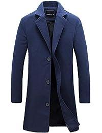 Cappotto Elegante da Uomo Fit Uomo Slim da Stile Semplice in Camice  Elegante Cappotto Trench da Uomo Cappotto… 6baa66516eb