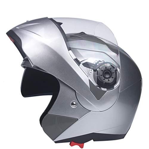 OLEEKA Caschi moto doppia visiera Casco modulare Flip Up Motocross racing doppia lente per unisex