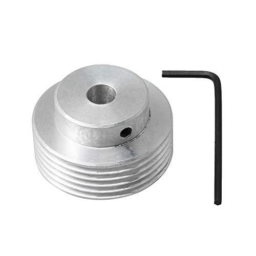 Yibuy PJ Riemenscheibe, Aluminium, 8 mm Bohrung, Durchmesser 6 Zähne, silberfarben