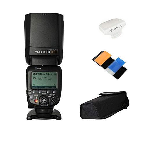 Oferta de Yongnuo Yn600Ex-Rt Ii Maestro Ttl Speedlite 1/8000S Hss Gn60 Apoyo Auto/Manual Zoom para Canon 600Ex-Rt Yn6000 Ex Rt II con Difusor Ginisfoto
