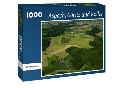Aspach - Göritz und Rollis - Puzzle 1000 Teile mit Bild von oben
