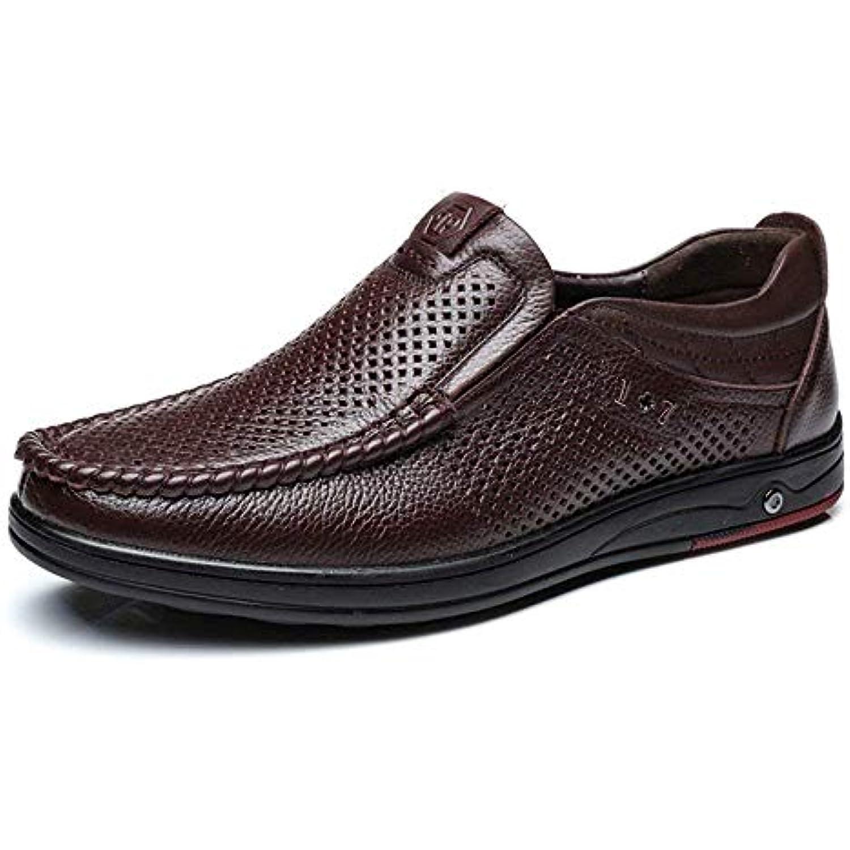 68667ebc47c6 Oudan Chaussures en Cuir véritable 2018 pour Hommes Classiques 2018  véritable Slip-on Resforation Respirant