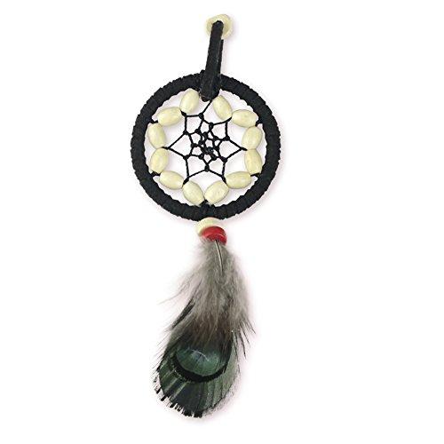 Mikolot I6Retro handgefertigter Traumfänger-Schlüsselanhänger mit Feder-Perlen