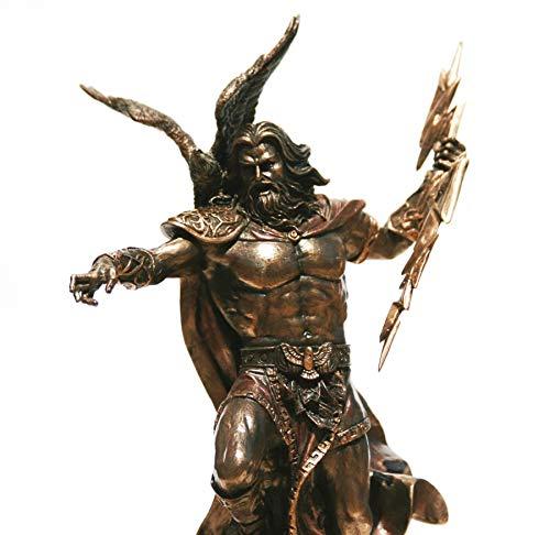 Unbekannt Veronese Statue griechischer König Zeus Jupiter Donner Bronze-Finish, 29,5 cm (Jupiter-statue)