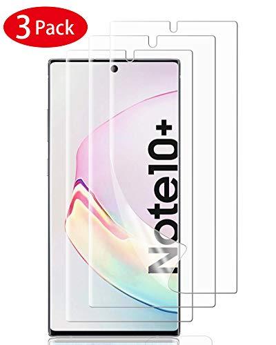 TOPACE Schutzfolie für Samsung Galaxy Note 10+ Ultra-klare Flexible Schutz Film Vollständige Abdeckung Bildschirmschutzfolie für Samsung Galaxy Note 10+ /Galaxy Note 10 Plus (3 Stück)
