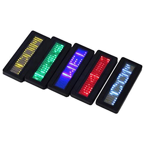 LED Namensschild Zeichen Scrollen Werbung//Visitenkarte Zeigen Display Tag//Programmierer//Bestellung Digitalanzeige Englisch Gro/ßhandel Tech