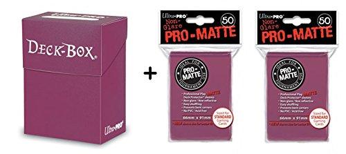 Preisvergleich Produktbild Ultra Pro Deck Box + 100 Protector Standard Sleeves - Blackberry - Magic: The Gathering & Pokemon Format