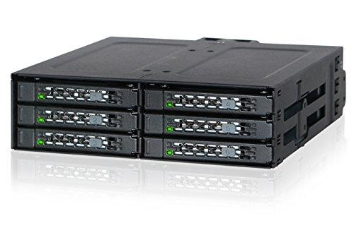 ICY DOCK MB608SP-B ToughArmor Wechselrahmen für Festplatten und SSDs Schwarz
