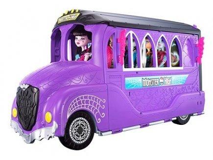 Bus Scolaire Monster High 2 en 1 : véhicule, Salon (poupées Non incluses) - Mattel