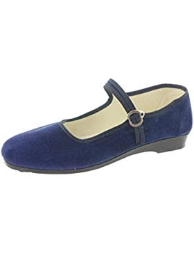 MIK funshopping Samt-Ballerina CHINA FLAT midnight blue