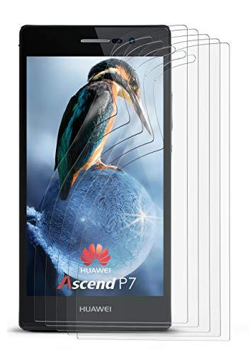 5X Huawei P7   Schutzfolie Matt Bildschirm Schutz [Anti-Reflex] Screen Protector Fingerprint Handy-Folie Matte Bildschirmschutz-Folie für Huawei Ascend P7 Bildschirmfolie