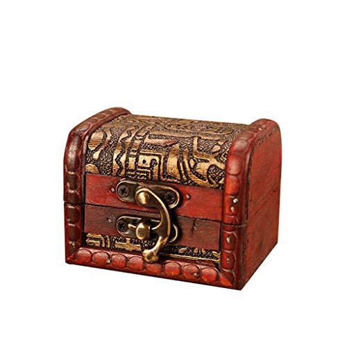 YCANK Vintage Metallperle für Schmuckkästchen, handgefertigt, mit Box zum Aufbewahren von Schmuck, Minischloss -
