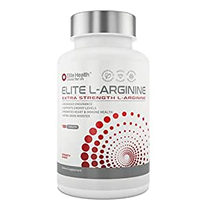 Elite Health's Premium L-Arginine 1000mg Supplement - Optimised Formula For Muscle Growth, Vascularity, Libido & Energy- Premium Nitric Oxide Booster Capsules Made In The UK - Satisfaction Or Your Money Back Guaranteed