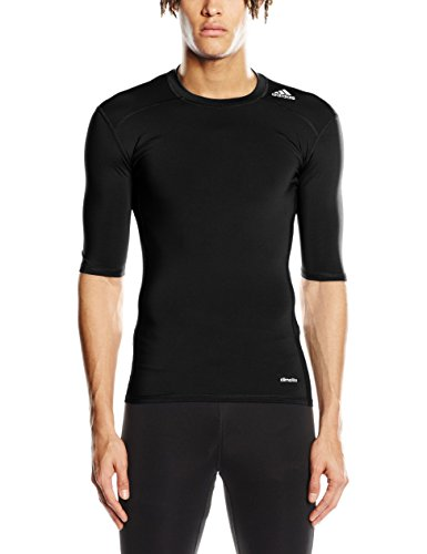 adidas Herren Training Techfit Base T-Shirt, Black, S