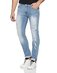 French Connection Mens Skinny Fit Jeans (54HIT_Light Blue_30W x 32L)