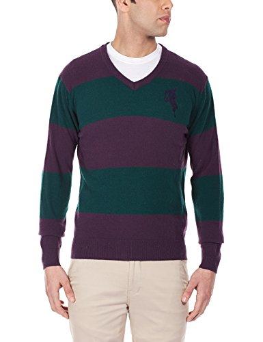 Arrow Sports Men's V-neck Wool Sweater