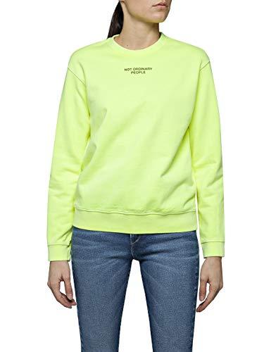 Replay Damen W3286C.000.22390G Sweatshirt, Gelb (Yellow Fluo 343), X-Large (Herstellergröße: XL)