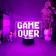 Game room decor works with a remote control LED night in 7 RGB colors ديكورغرفة الألعاب
