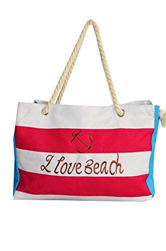 KARL LOVEN , Borsa da spiaggia  donna blu blu Rose
