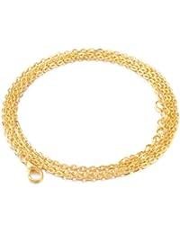 Eudora accesorios de la bola de la armonía plata / de oro / Rose de oro plateado cera cadena de cuero 20/24/30/45 pulgadas de collar