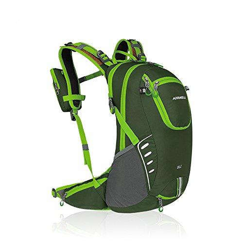 Imagen de  para bicicleta con funda impermeable de nailon 20l luz  con funda para rueda de escalada y deportes de exterior de deportes, verde