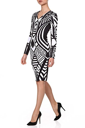 red-isabel-women-dradid-black-and-white-bodycon-dress