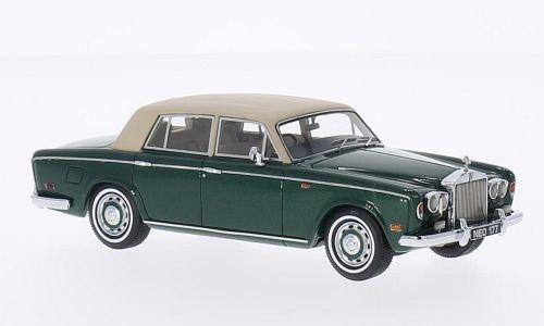 rolls-royce-silver-shadow-met-grun-matt-beige-rhd-1974-modellauto-fertigmodell-neo-143