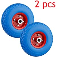 Miafamily PU Rad 3.00-4 Sackkarrenrad Gummirad Vollgummi-Reifen Universal Schubkarren-Reifen PU auf Stahlfelge schwarz mit 80kg Traglast 260x75mm