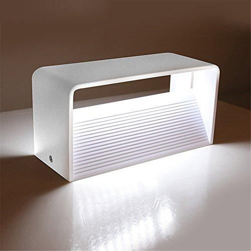 CL Wasserdichte COB LED Licht Wandleuchte AC 110-240 V Moderne Hauptbeleuchtung Dekoration Aluminium (Color : Cool White)