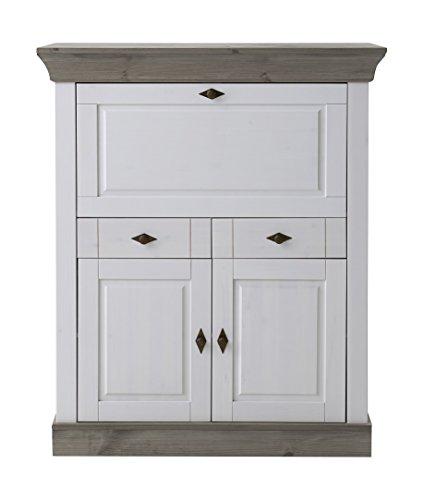 Jumek 117 wss-gra Sekretär, Holz, weiß / grau, 107.5 x 45 x 128.4 cm