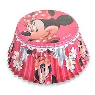 Pirottini per cupcake, motivo: Minnie, 50 pezzi Prodotto ufficiale.