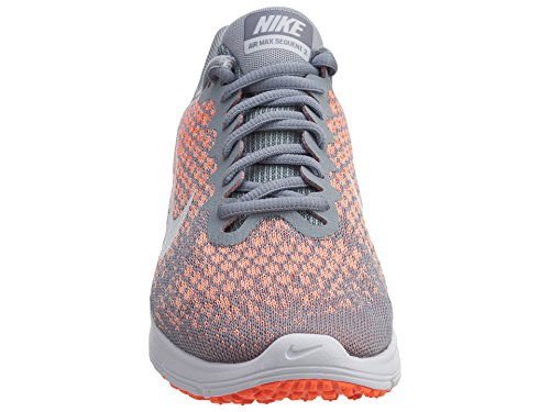 huge selection of 82983 42ddc ... NIKE Air Max Sequent 2 Chaussures de Course Wolf Grey Bright Mango Sunset  Glow ...