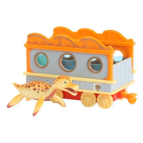 Learning Curve Dinosaur Train Collectible Dinosaur With Train Car: My Friends Can Swim: Paulie by Learning Curve