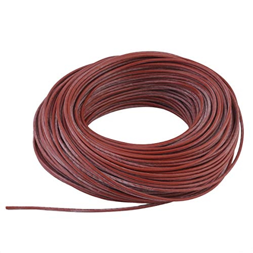 Funnyrunstore Portable Infrarot Heizstrahler Kabel Silikon Kohlefaser Draht Elektroheizung Hotline für Fußbodenheizung (Farbe: rot)