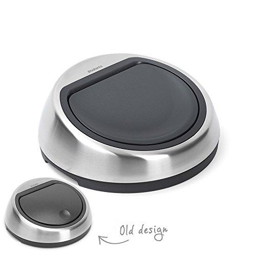 Brabantia Ersatzdeckel für Touch Bin, Deckel 50Liter Matt Stahl Fingerabdruck Beweis 50 L Touch Bin