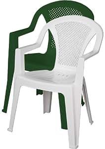 Ischia sedia da giardino in resina con braccioli for Offerte arredamento da giardino