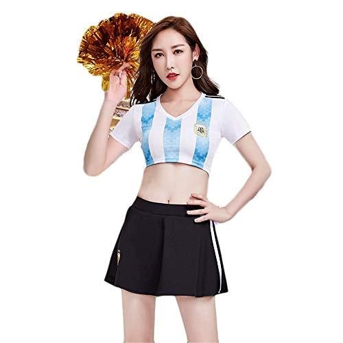 MCO%SISTSR Cheerleader-Kostüm,Cheerleading Einheitliches Gestreiftes Hemd des Mädchens