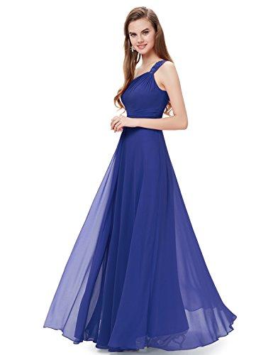 Ever Pretty Damen Elegant ein Schulter Abendkleider Brautjungfernkleid 08034 Saphirblau