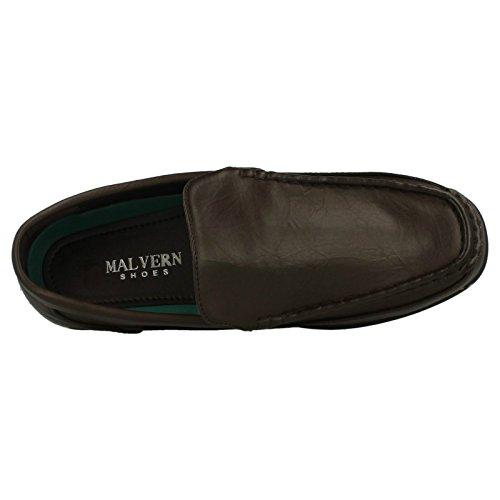 Malvern Flat Herren Slip-On, mit gesteppten Verzierungen Braun