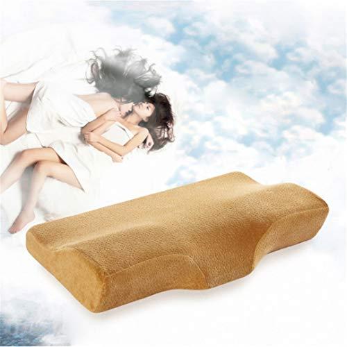 Pillow-top-king-size-matratze (KGGOPREAn Sphenoid Pillow Velvet Slow Rebound Gedächtniskissen Gebärmutterhalskissen 4 62X35CM)