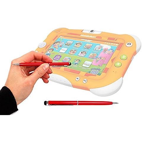DURAGADGET Lápiz Stylus Rojo 2 En 1 Bolígrafo De Tinta Para Pantalla Táctil De Tablet Videojet