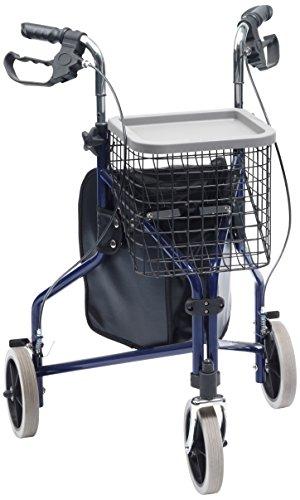 DRIVE MEDICAL LTD - Ausilio per mobilità, supporto a 3 ruote con borsa, cestino e vassoio