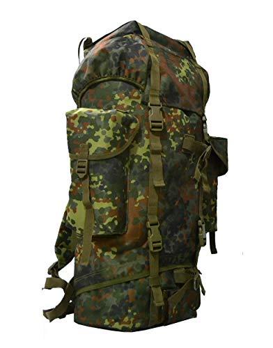 Red Reptrox BW Kampfrucksack 65 Liter in Flecktarn, Oliv, Schwarz, Tropentarn, Woodland und mehr !! (Flecktarn)