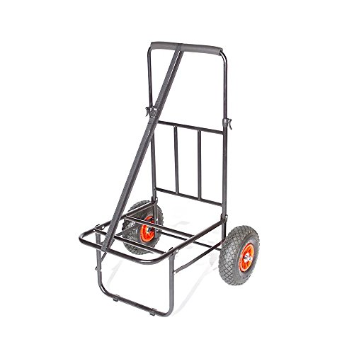 lucx® Trolley/Carrito de transporte con neumáticos de goma/Barrow/carretilla de transporte/pesca Caddy/Trolly