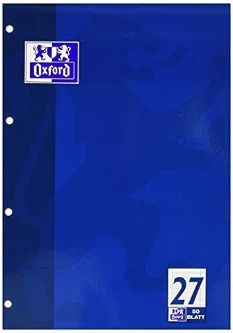 Bloc notes lycée professionnel A4 linéature 27 avec bord double ligné 50 feuille