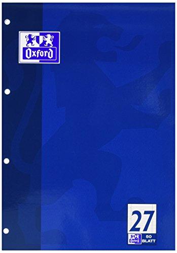 Oxford 100050352 Schulblock Linien 27 - A4, 50 Blatt, 90 g/qm, 4-fach Lochung