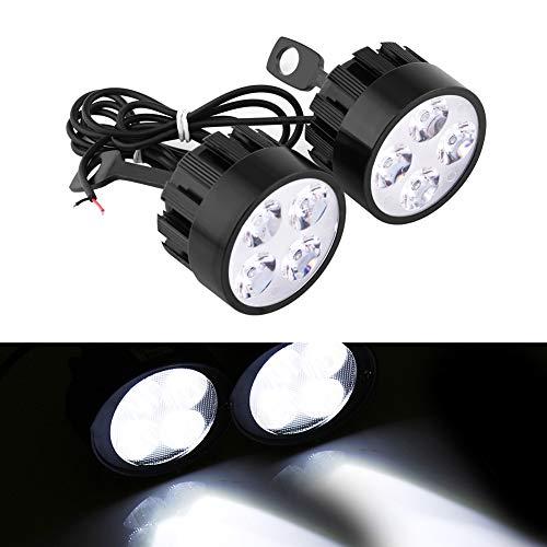 Stück 12V 24W Motorrad wasserdicht Scheinwerfer Nebel Spot Kopf Licht Scheinwerfer Lampe Scooter Spot Licht Hilfsleuchten ()