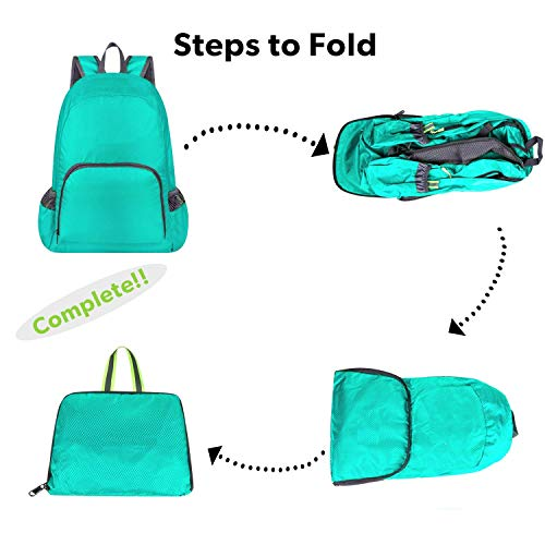 CLOMANA® Waterproof Foldable Multi Color Nylon Backpack for Multi-Function Use (Pack of 1) Image 2