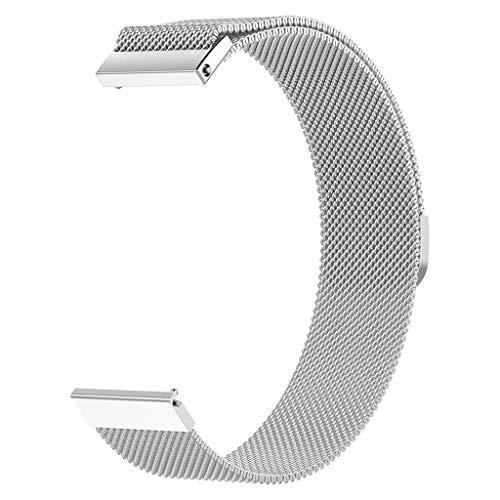 Band Armband Mode Milanaise Edelstahl Ersatz Magnetarmband für Huawei Watch GT/Honor Watch Magic/Ticwatch Pro silber ()
